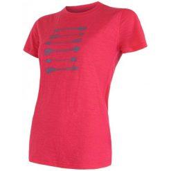 Sensor Koszulka Damska Merino Wool Arrows Magenta Xl. Czerwone koszulki sportowe damskie Sensor, ze skóry, z krótkim rękawem. W wyprzedaży za 165.00 zł.