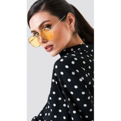 NA-KD Accessories Kwadratowe okulary przeciwsłoneczne - Yellow. Żółte okulary przeciwsłoneczne damskie NA-KD Accessories. Za 80.95 zł.