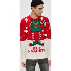 Brave Soul - Sweter. Szare swetry przez głowę męskie Brave Soul, z dzianiny, z okrągłym kołnierzem. W wyprzedaży za 99.90 zł.