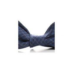 Mucha wiązana TARIFA kratka. Niebieskie krawaty i muchy Hisoutfit, w kratkę, z materiału, wizytowe. Za 89.00 zł.
