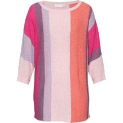 Sweter z rękawami typu nietoperz bonprix dymny koralowy - pastelowy jasnoróżowy. Swetry damskie marki bonprix. Za 109.99 zł.