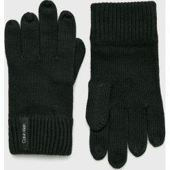 Calvin Klein - Rękawiczki. Czarne rękawiczki męskie Calvin Klein, z bawełny. Za 159.90 zł.