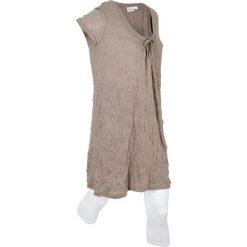 Długa tunika z kreszowanego materiału + legginsy 3/4 bonprix brunatny. Legginsy damskie marki DOMYOS. Za 109.99 zł.