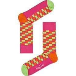 Happy Socks - Skarpety Filled Optic. Różowe skarpety damskie Happy Socks, z bawełny. W wyprzedaży za 29.90 zł.