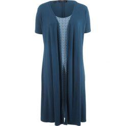 Sukienka w optyce 2 w 1, krótki rękaw bonprix ciemnoniebieski. Niebieskie sukienki damskie bonprix, z krótkim rękawem. Za 74.99 zł.