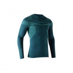 Koszulka termoaktywna długi rękaw dla dorosłych Kipsta Keepdry 500. Niebieskie koszulki sportowe męskie KIPSTA, z elastanu, z długim rękawem. Za 49.99 zł.