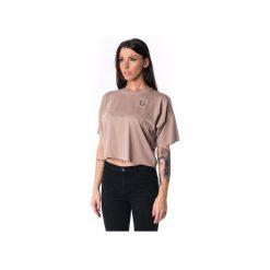 Damski panelled T-shirt 17. Brązowe t-shirty damskie Theg clothing, z haftami, z elastanu. Za 159.16 zł.