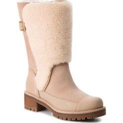 Kozaki TORY BURCH - Sloan Shearling Boot 49198 Perfect Sand/Natural 256. Brązowe kozaki damskie Tory Burch, z materiału. W wyprzedaży za 1,679.00 zł.