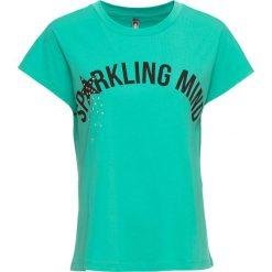 T-shirt bonprix zielony oceaniczny z nadrukiem. T-shirty damskie marki DOMYOS. Za 32.99 zł.