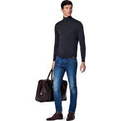 Jeansy Brooklyn. Niebieskie jeansy męskie LANCERTO. W wyprzedaży za 299.90 zł.
