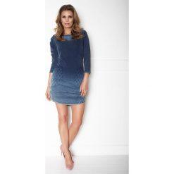 Sukienka cieniowana a'la jeans a165-2. Szare sukienki damskie La' Aurora, z jeansu. W wyprzedaży za 109.00 zł.