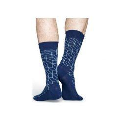 Skarpetki Happy Socks  OPT01-6001. Czerwone skarpety męskie Happy Socks, z bawełny. Za 24.43 zł.