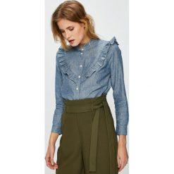 Levi's - Koszula. Brązowe koszule damskie Levi's, z bawełny, casualowe, ze stójką, z długim rękawem. Za 279.90 zł.