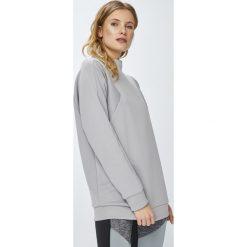 Reebok - Bluza. Szare bluzy damskie Reebok, z bawełny. W wyprzedaży za 229.90 zł.