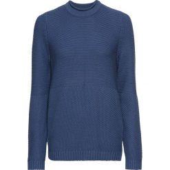Sweter w strukturalny wzór bonprix jasny indygo. Swetry damskie marki KALENJI. Za 49.99 zł.