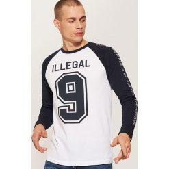 Koszulka z długim rękawem - Biały. Białe bluzki z długim rękawem męskie House. Za 39.99 zł.