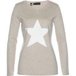 Sweter bonprix kamienisty melanż - biel wełny. Swetry damskie marki KALENJI. Za 89.99 zł.