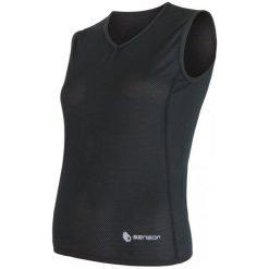 Sensor Koszulka Coolmax Air V-Neck Black S. Czarne koszulki sportowe damskie Sensor, bez rękawów. Za 109.00 zł.