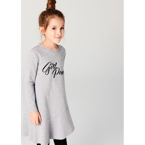4cc3a4d180 Dzianinowa sukienka dla dziewczynki little princess - Szary ...
