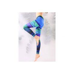 Legginsy kolorowe. Zielone legginsy damskie Manifesto art clothes, w kolorowe wzory, z tkaniny. Za 119.00 zł.