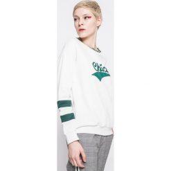 Answear - Bluza Sporty Fusion. Szare bluzy damskie ANSWEAR, z nadrukiem, z bawełny. W wyprzedaży za 49.90 zł.