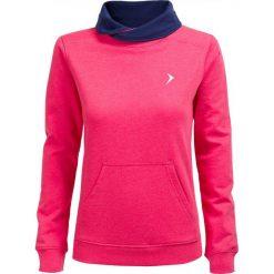 Bluza damska BLD600 - RÓŻ MELANŻ - Outhorn. Czerwone bluzy damskie Outhorn, na jesień, melanż, z materiału. W wyprzedaży za 48.99 zł.