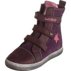 Skórzane botki w kolorze ciemnofioletowym. Botki dziewczęce Zimowe obuwie dla dzieci. W wyprzedaży za 167.95 zł.
