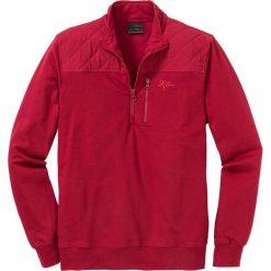 Bluza ze stójką Regular Fit bonprix ciemnoczerwony. Czerwone bluzy męskie bonprix. Za 109.99 zł.