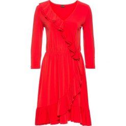 Sukienka z założeniem kopertowym bonprix truskawkowy. Czerwone sukienki damskie bonprix, z kopertowym dekoltem. Za 79.99 zł.