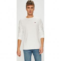 Levi's - T-shirt. Brązowe bluzki z długim rękawem męskie Levi's, z bawełny, z okrągłym kołnierzem. Za 129.90 zł.