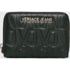 Versace Jeans - Portfel. Czarne portfele damskie Versace Jeans, z jeansu. Za 339.90 zł.