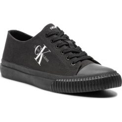 Trampki CALVIN KLEIN JEANS - Iaco Canvas S0593 Black. Czarne trampki męskie Calvin Klein Jeans, z jeansu. Za 469.00 zł.