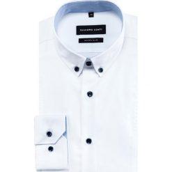 Koszula MICHELE KDBE000433. Białe koszule męskie Giacomo Conti, z bawełny, button down, z długim rękawem. Za 259.00 zł.