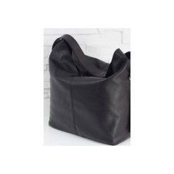 Skórzana Shopper boho black classic. Czarne torebki shopper damskie Fabiola, z materiału. Za 281.00 zł.