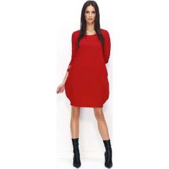 Czerwona Dresowa Mini Sukienka Bombka. Czerwone sukienki damskie Molly.pl, z dresówki, sportowe. Za 104.90 zł.