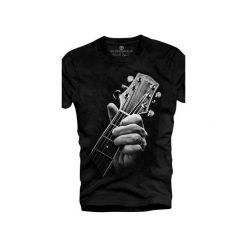 T-shirt UNDERWORLD Ring spun cotton Guitar Head. Czarne t-shirty męskie Underworld, z nadrukiem, z bawełny. Za 59.99 zł.