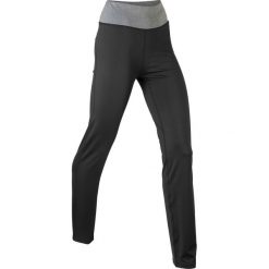 Spodnie sportowe ze stretchem, długie, Level 1 bonprix czarny. Legginsy damskie marki bonprix. Za 79.99 zł.