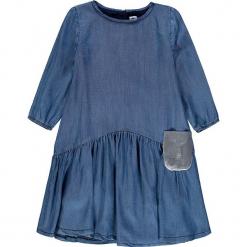 Sukienka w kolorze niebieskim. Niebieskie sukienki dla dziewczynek Königsmühle, z aplikacjami. W wyprzedaży za 97.95 zł.