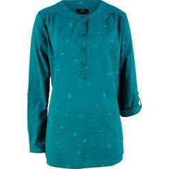Tunika bawełniana z nadrukiem, długi rękaw bonprix kobaltowy z nadrukiem. Niebieskie tuniki damskie bonprix, z nadrukiem, z bawełny, z długim rękawem. Za 74.99 zł.