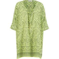 Tunika plażowa bonprix zielono-oliwkowy z nadrukiem. Zielone tuniki damskie bonprix, z nadrukiem, z tkaniny. Za 79.99 zł.