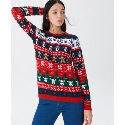 Sweter ze świątecznym motywem - Wielobarwn. Szare swetry damskie House. Za 89.99 zł.