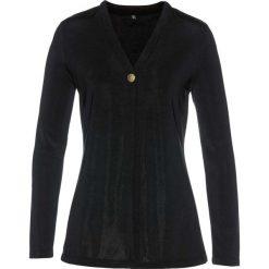 """Płaszcz shirtowy """"slinky"""" bonprix czarny. Płaszcze damskie marki FOUGANZA. Za 89.99 zł."""