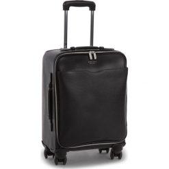 Mała Twarda Walizka BOSS - Signature_Trolley 50385614  001. Czarne walizki damskie Boss, ze skóry. W wyprzedaży za 2,949.00 zł.
