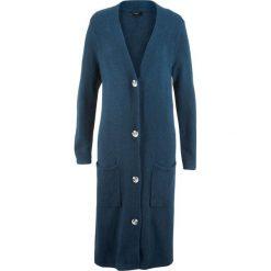 Długi sweter, długi rękaw bonprix ciemnoniebieski. Niebieskie swetry damskie bonprix. Za 99.99 zł.