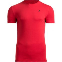 T-shirt męski TSM601 - czerwony - Outhorn. Czerwone t-shirty męskie Outhorn, na lato, z bawełny. W wyprzedaży za 29.99 zł.