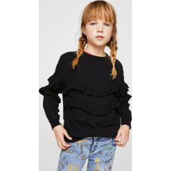 Mango Kids - Sweter dziecięcy Angie 110-164 cm. Swetry dla dziewczynek Mango Kids, z dzianiny, z okrągłym kołnierzem. W wyprzedaży za 49.90 zł.