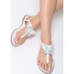 Białe Sandały Uniqueness. Białe sandały damskie Born2be, z materiału. Za 49.99 zł.