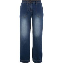 Dżinsy, bardzo szerokie bonprix ciemny denim. Jeansy damskie marki bonprix. Za 139.99 zł.