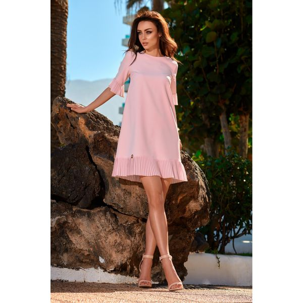 c07f1bc2d4dec5 Kobieca sukienka z falbanką l243 - Sukienki damskie Lemoniade. W ...