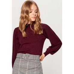 Sweter z bufiastymi rękawami - Bordowy. Czerwone swetry damskie Mohito. Za 99.99 zł.